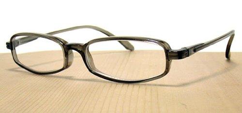 純日本製 やわらかシニアグラス(老眼鏡)SABAE シリーズ【スモーキー・ブラック】鯖江製メガネ・JAPAN 度数:+1.50