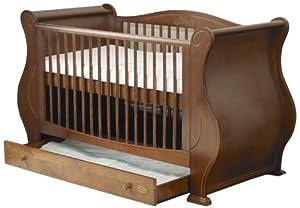 Tutti Bambini Louis Fix Side Sleigh Marie Cot Bed (Walnut) from Tutti Bambini