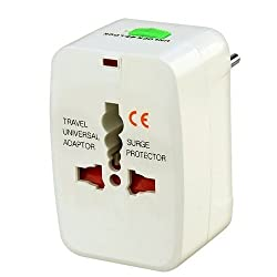 ENSURE Basics High Quality Universal All In One World Wide Travel Adapter - White