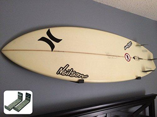 Naked Surf | Minimalist Surfboard Wall Rack | Black Display