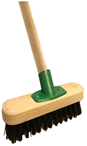 9-stiff-heavy-duty-long-handled-scrubbing-brush-deck-broom-with-wooden-handle-pvc-bristles