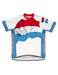 Luxembourg Flag Short Sleeve Cycling Jersey for Women