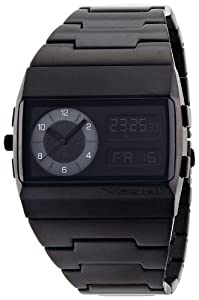 Vestal Unisex MMC034 Metal Monte Carlo All Black Ion Plated Digital Watch