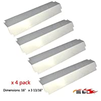93321(4-pack) Stainless Steel Heat Plate Replacement for Charbroil, Kenmore Sears, Thermos, Lowes Model Grills and Others by BBQ Mart