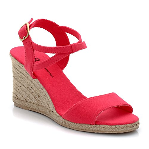 купить R Essentiel Womens Rope Wedge Heel Sandals With Ankle Strap дешево