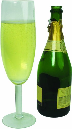 Extra Large Giant Champagne Flute Glass - 25oz - Holds about a full bottle of champagne