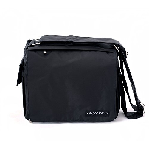 Ah Goo Baby Grab-and-Go Compact Diaper Bag, Midnight