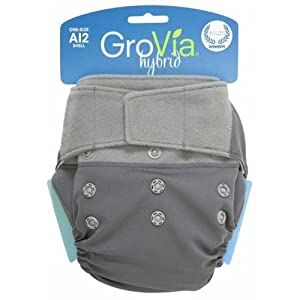 GroVia® Shell Hook/Loop Closure- Cloud-hybrid, diaper, cloth, grovia, hybrid