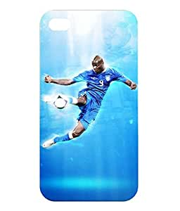 Dzinetree Blue iPhone 4 Back Cover Case - Football Series