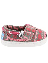 Toms Tiny Toddlers Bimini in Pink Sweater Print
