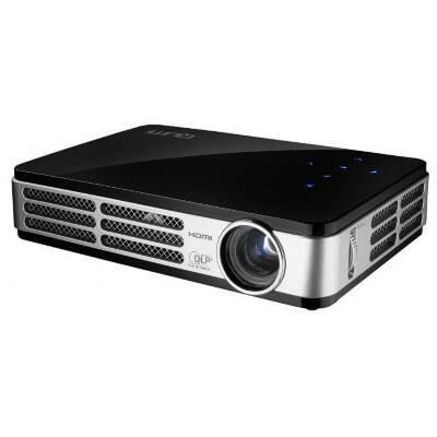Vivitek Qumi Q2 LITE-B 3D Ready LED Pocket Projector 720p HDTV 16:10 1280x720 WXGA 10000:1 300 lumens HDMI USB VGA Black
