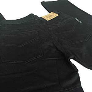 Mens Black Dupont Kevlar Motorcycle Jeans With CE Armour W30 L30