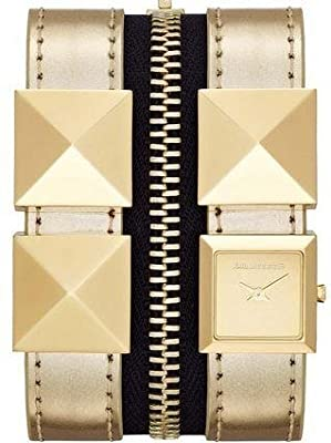 KARL LAGERFELD 'Edge' Double Strap Cuff Watch