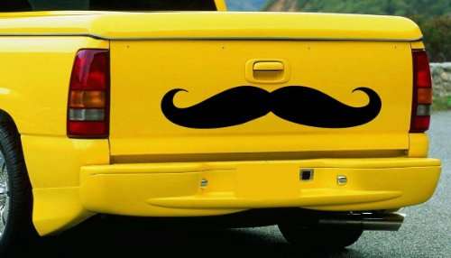 "MUSTACHE FOR TRUCK or CAR #2 ~ AUTO DECAL, 6.5"" X 33"""