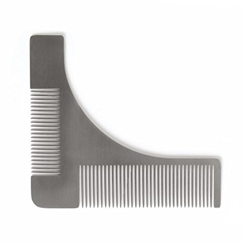 Stainless steel Beard Styling & Shaping Template Comb Trim Tool Perfect for Lines & Symmetry