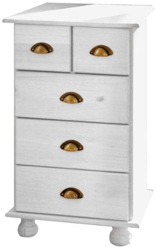 Links - Think Design, Comodino Ulla, 3+2 cassetti, colore: Bianco