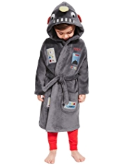 Robot Design Soft & Cosy Fleece Dressing Gown