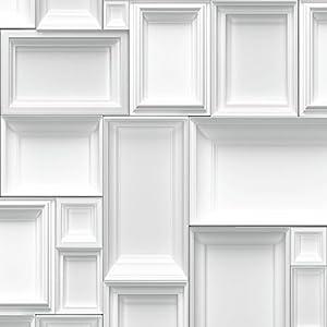 muriva just like it bilderrahmen motiv muster designer tapete wei grau j66309. Black Bedroom Furniture Sets. Home Design Ideas