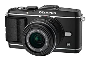 Olympus PEN E-P3 Systemkamera (12 Megapixel, 7,6 cm (3 Zoll) Display, Bildstabilisator, Full-HD Video) Kit schwarz inkl. 14-42mm Objektiv schwarz