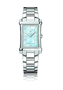 Eterna Contessa Women's Quartz Watch with Mother of Pearl Dial Analogue Display and Silver Stainless Steel Bracelet 2410.41.87.0264