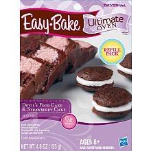 Playskool Easybake Ultimate Oven Devils Food Cake & Strawberry Cake Mix 4.8 Oz