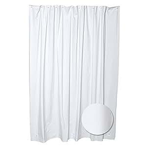 Commercial Grade 10ga Vinyl White Heavy Duty Shower Curtain Liner With Bonus 12