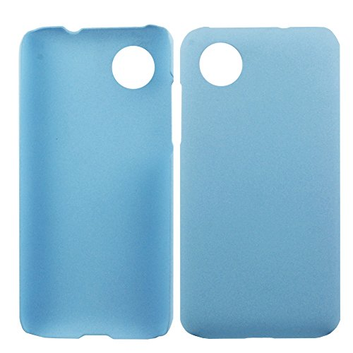 Heartly QuickSand Matte Finish Hybrid Flip Thin Hard Bumper Back Case Cover For HTC Desire 709D 709 700 - Sky Blue