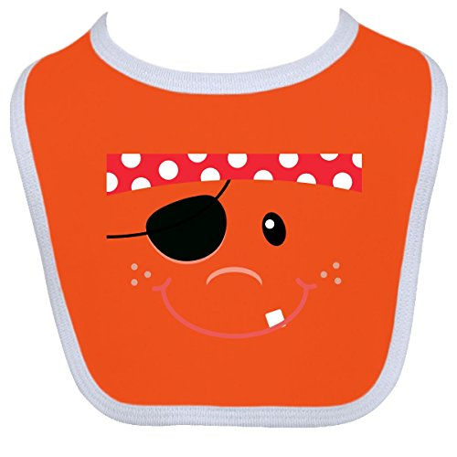 Inktastic Baby Boys' Funny Pirate Face Costume Idea Baby Bib