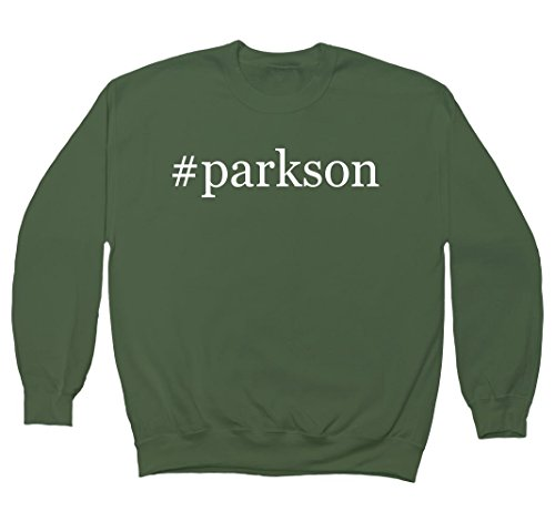 parkson-hashtag-mens-crewneck-fleece-sweatshirt-military-xxx-large