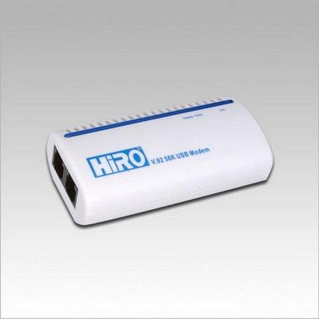 HiRO H50113 V. 92 56K External USB Data Fax Voice Modem RoHS
