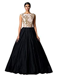 bridal collection black fancy Embroidered gown