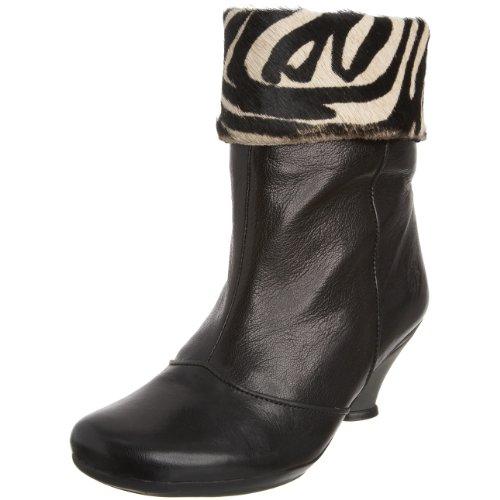 Fly London Women's Vigna Ankle Boot Black/Zebra P141662000 6 UK