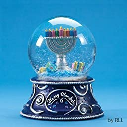 100mm Sing Along Hanukkah Musical Water Globe by Rite Lite