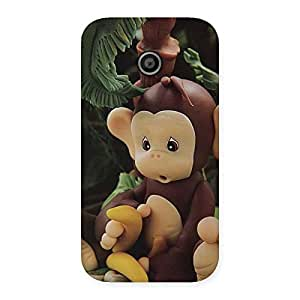 Gorgeous Toy Monkey Multicolor Back Case Cover for Moto E