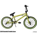 "20"" DK Franklin Boys' BMX Bike - Children's Bicycles - Kids Bike - Bright metallic green paint job - Strong and durable hi-ten steel handlebar - Assembled dimensions: 56.5""L x 27""W x 36.25""H"