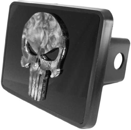"Purchase Punisher Skull Custom Acrylic Hitch Cover 2"" Receiver from Redeye Laserworks"