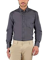 Nick&Jess Mens Grey Button Down Collared Shirt