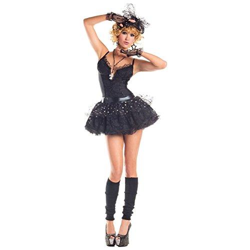 GSG Madonna Costume Adult 80s Pop Star Material Girl Halloween Fancy Dress (Madonna Material Girl Fancy Dress)