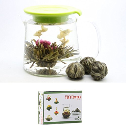 12 Blooming Flowering Green Tea Gift Box (Passionfruit)
