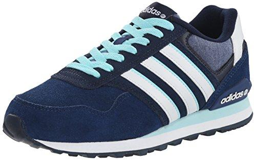 Adidas NEO Women's 10K W Lifestyle Sneaker, Blue/White/Blue, 10.5 M US