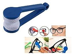 KARP Mini Microfiber Glasses Sun Glasses Eyeglasses Cleaner Cloth Cleaning Clip (Blue)