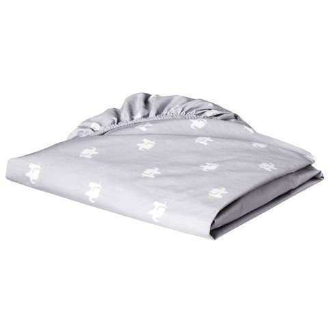 Circo Elephant Silhouette Fitted Crib Sheet - 1