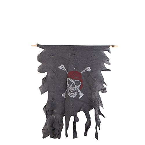 MissFox Halloween Party Decorations Pirate Skull And Crossbones Flag