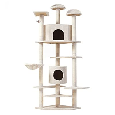 "Best Choice Products New ""The Tabby"" Cat Nap Cat Tree Condo Pet Furniture Scratching Post Premium Quality Pet House, 80"""
