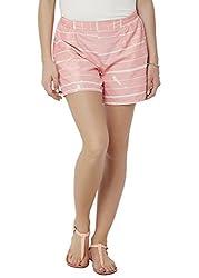 Chumbak Women's Shorts (CBSW028 S_Pink_S)