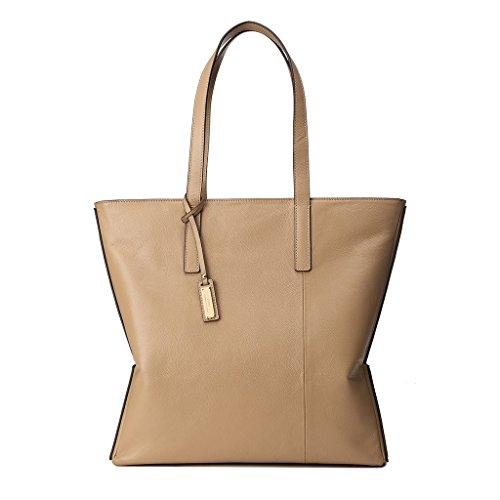 Borsa donna shopper in pelle morbida Shopping con Doppia maniglia DUDU Beige