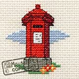 Mouseloft Mini Cross Stitch Kit Red Pillar Box Postbox Images of Britain Collection