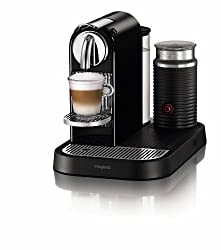 Nespresso CitiZ D120 Automatic and programmable Espresso and Lungo Machine w/Frother, Black