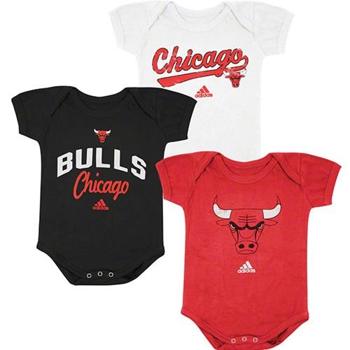 Chicago Bulls Newborn 3 Piece Creeper Set 0/3 Months at Amazon.com