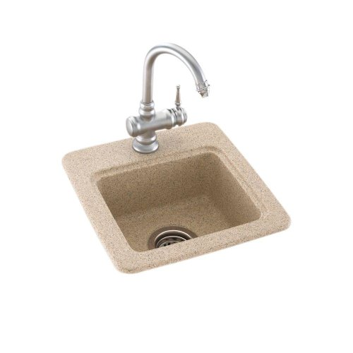 (Bs01515.060) Dual Mount Composite 15X15X6 1-Hole Bar Sink In Winter Wheat
